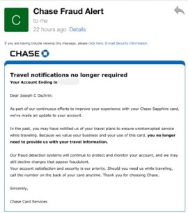 New Chase Sapphire Preferred Benefit I No Longer Have To Call Chase And Let Them Know My Travel Information Ahead Of Time The Window Suite
