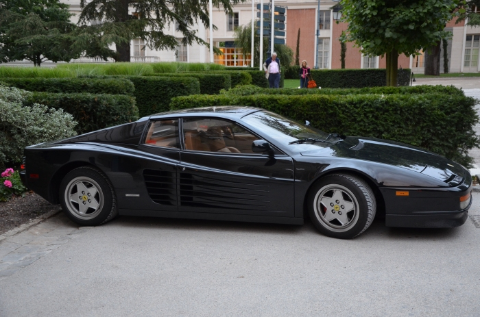 Old School 'Rari Parked Outside.
