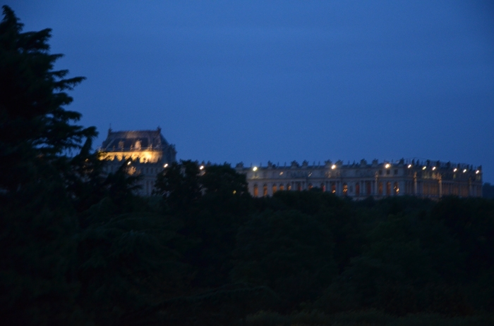 Versailles at night.