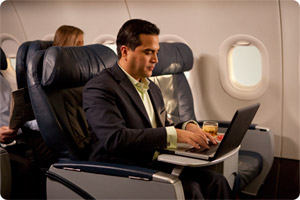 Photo courtesy www.usairways.com (but look how productive I could be!)