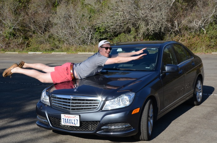 Rented a Mercedes through Zipcar to drive up the California coast!