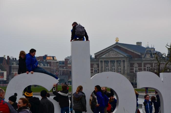 In front of the Rijksmuseum.