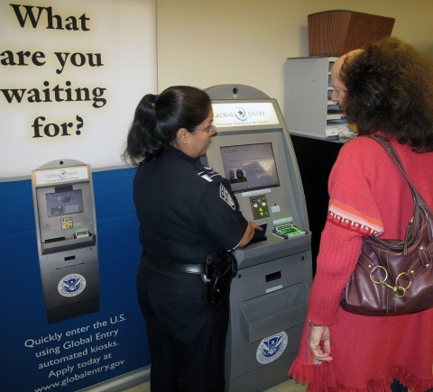 Global Entry Kiosk - photo courtesy of Department of Homeland Security