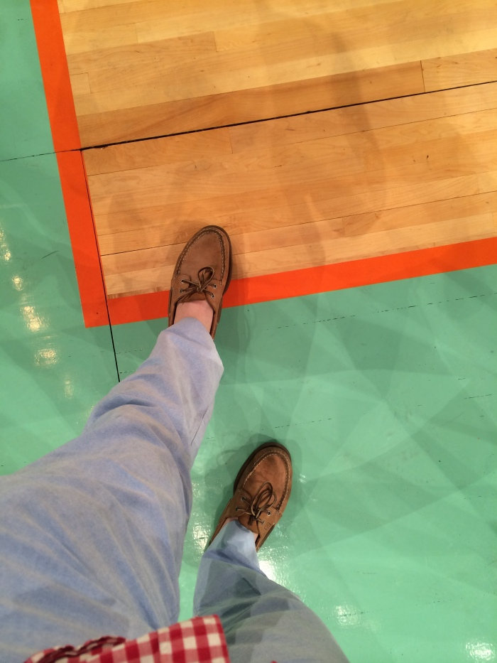 Officially courtside.