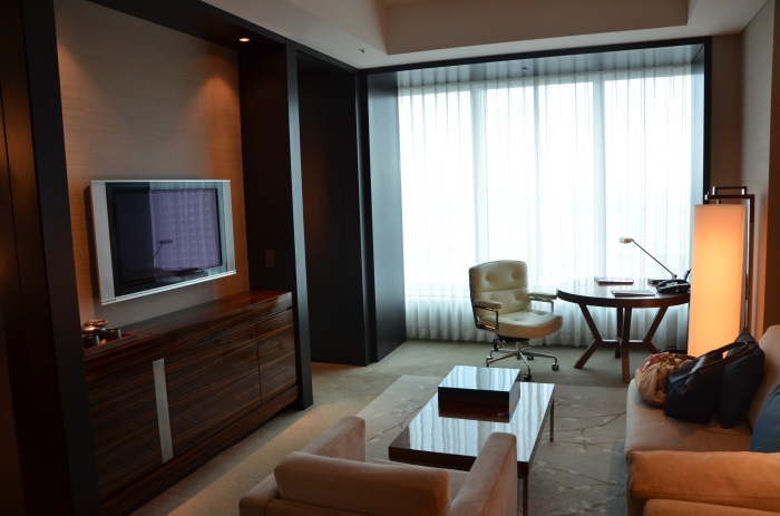 The living room portion of the suite