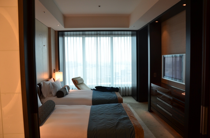 The bedroom portion of the suite