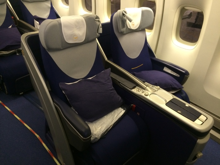My seat is on the left.