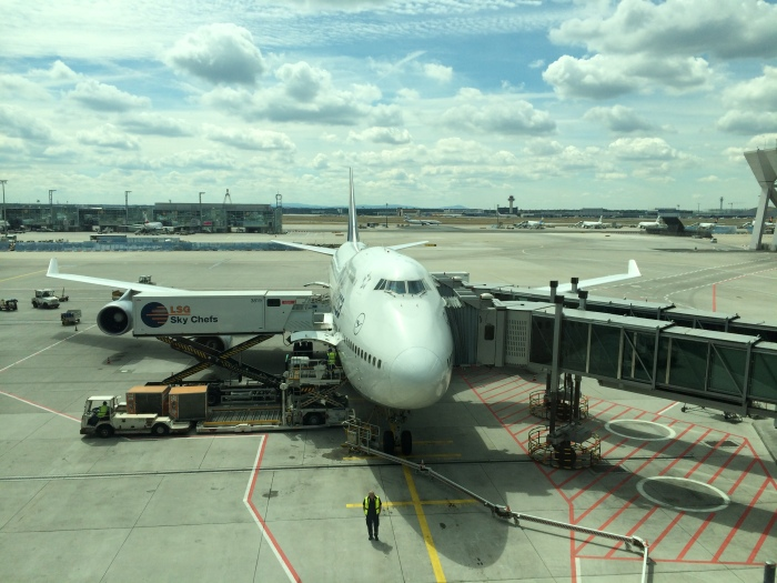 The 747 from my Boston-Frankfurt flight.