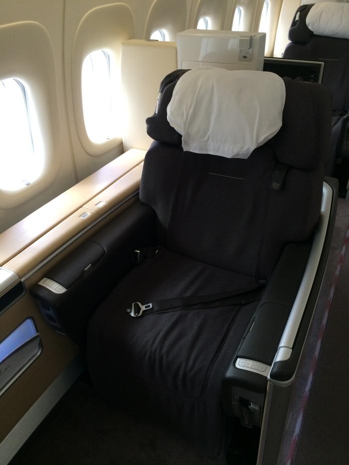 My seat to Seoul!