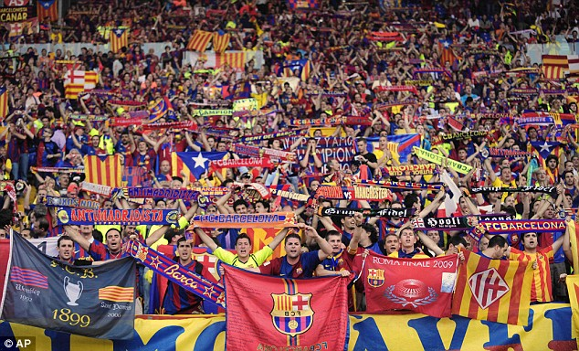 Barca - photo courtesy Daily Mail
