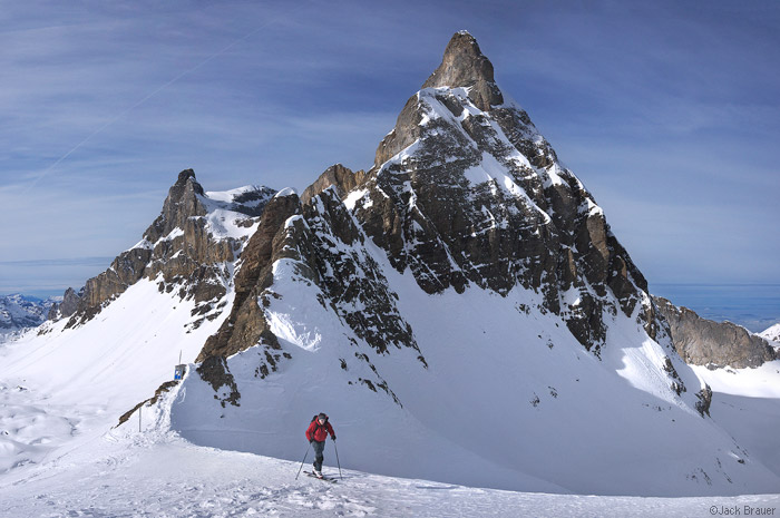 Skiing at the Matterhorn - photo courtesy www.mountainphotography.com