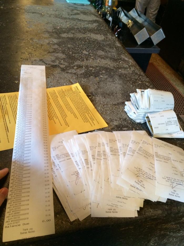57 receipts!