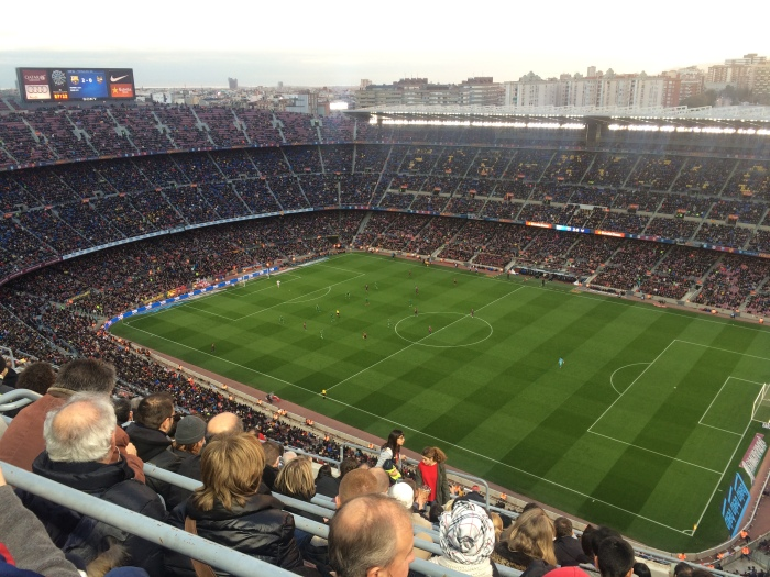 The Camp Nou is able to fit 110,00 cules.