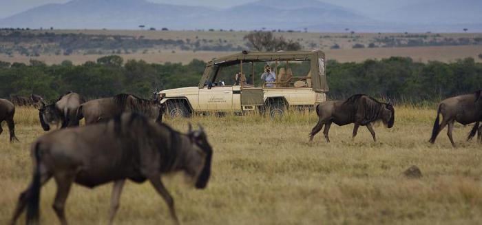 Game drive. Photo courtesy Fairmont Mara Safari Club website.