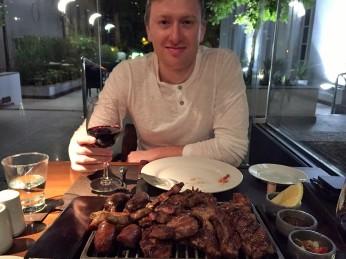 Meat plate, Q Grill, Park Hyatt Mendoza