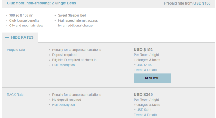 Sheraton Club Floor price