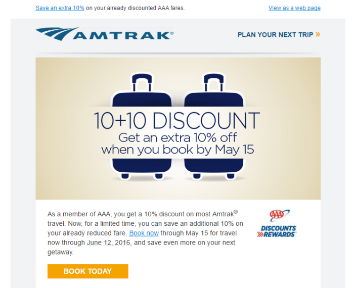 Amtrak discounts
